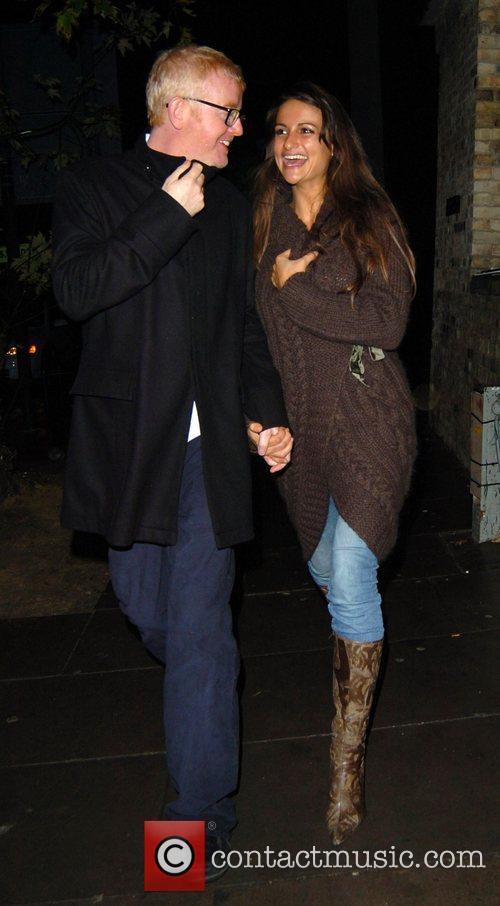 Chris Evans and wife Natasha Shishmanian leaving the...