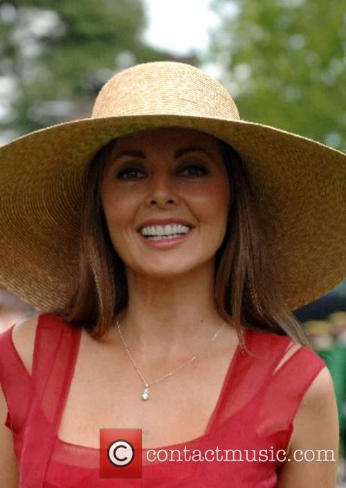 TV presenter Carol Vorderman attends Ladies Day at...