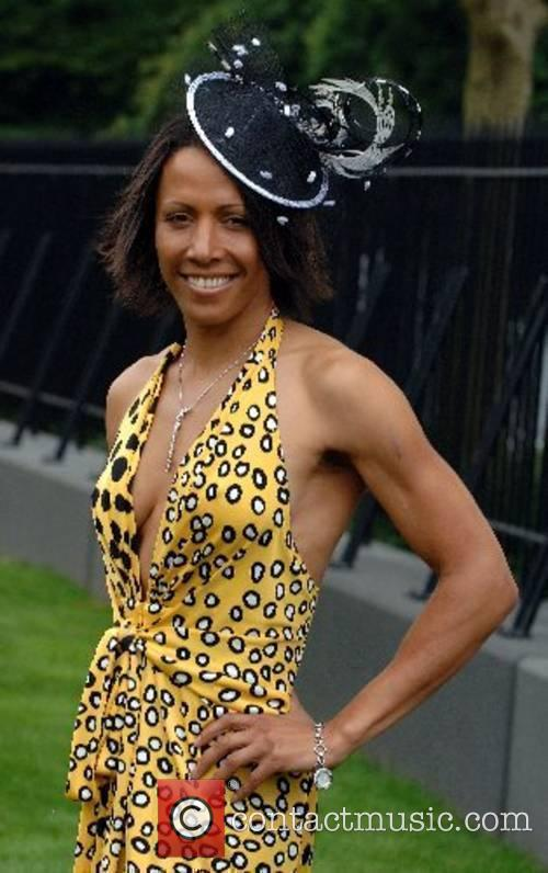 Athlete Kelly Holmes attends Ladies Day at Royal...