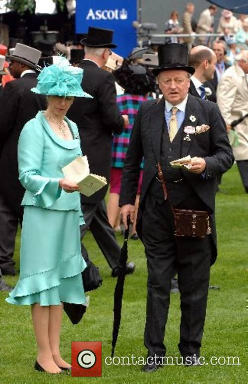 Princess Anne, Princess Royal and Andrew Parker-Bowles attend...