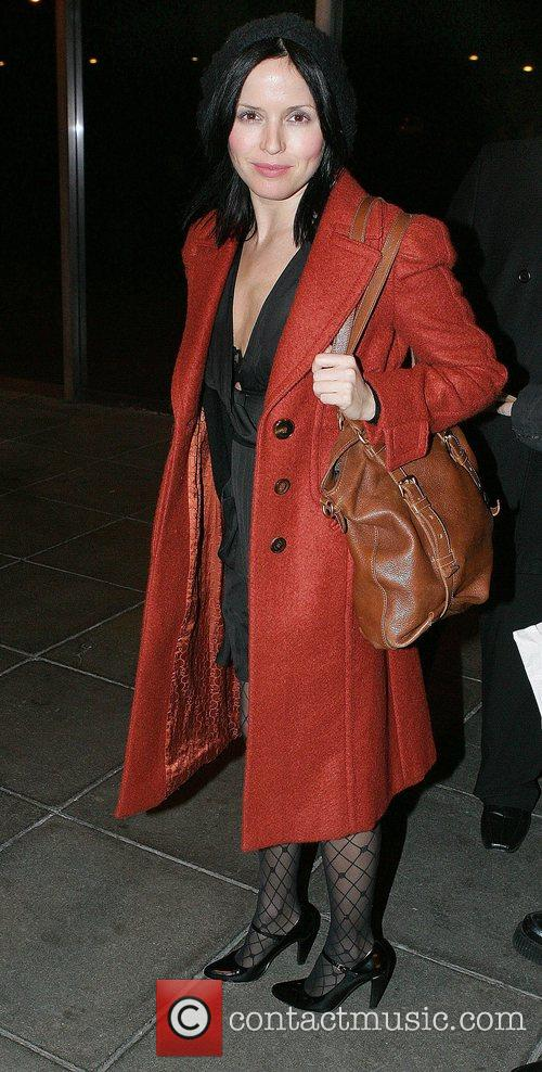Andrea Corr leaving RTE Studios after appearing on...