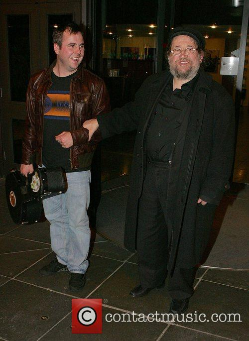 Barney McKenna (right) leaving RTE Studios after appearing...