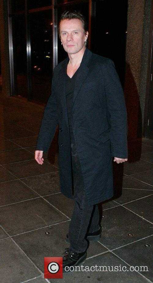 Larry Mullen leaving RTE Studios after appearing on...