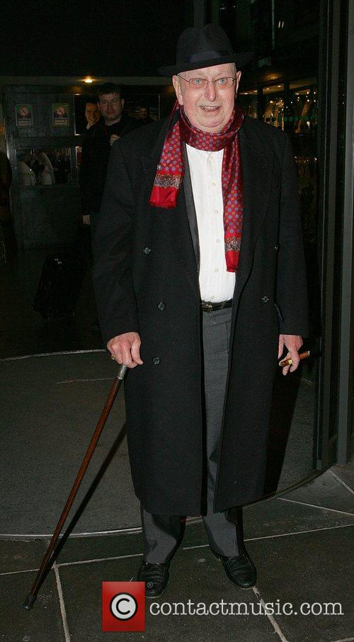 Ronnie Drew leaving RTE Studios after appearing on...