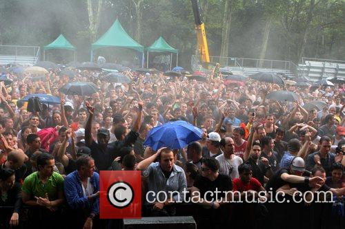 Dedicated fans brave the rain at rumsey playfield,...