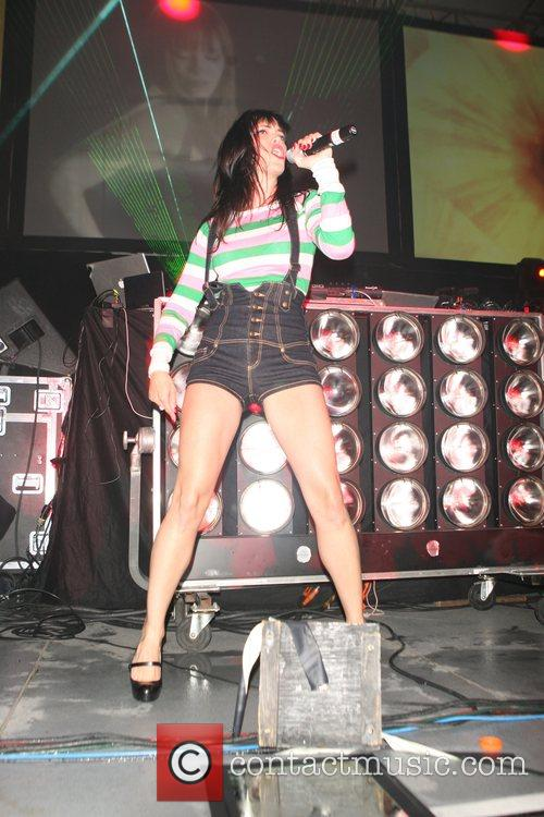 Jessica Sutta performs live on the summer stage...