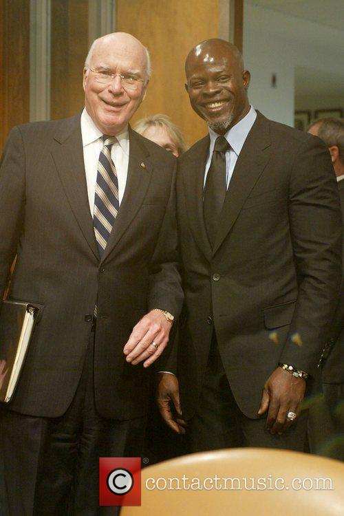 Senator Patrick Leahy and Djimon Hounsou Senate Judiciary...