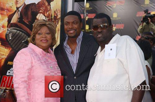 Chris Tucker with his mother Mary Tucker and...