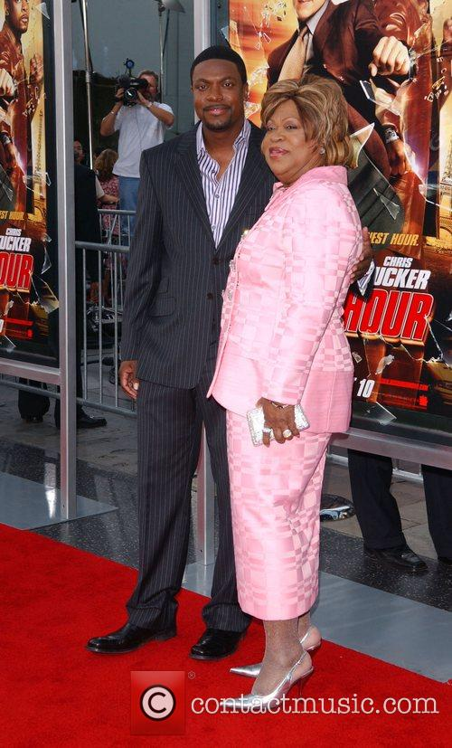 Chris Tucker with his mother Mary Tucker