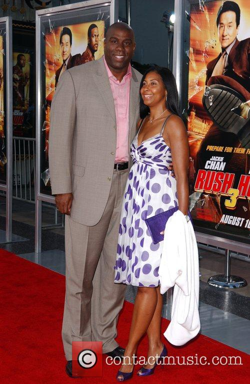 Earvin 'Magic' Johnson and wife Cookie Johnson