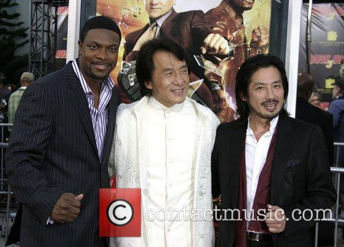 Chris Tucker, Jackie Chan and Hiroyuki Sanada LA...