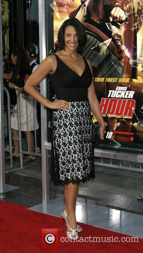 Wendy Davis  LA premiere of 'Rush Hour...