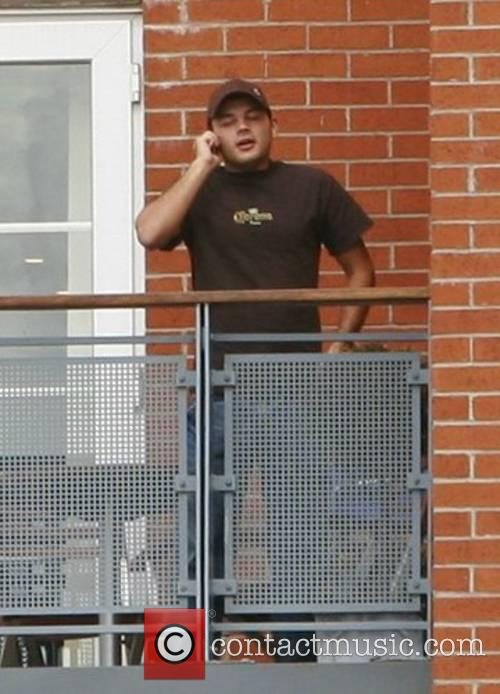 Aka Coronation Street's Jason Grimshaw on the balcony...