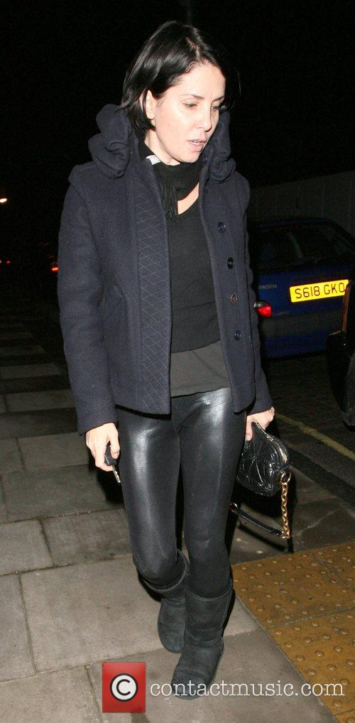 Sadie Frost arriving at Kate Moss's house