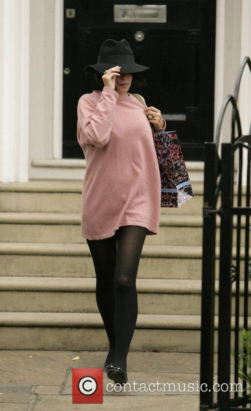 Sadie Frost leaving Davinia Taylor's house after spending...