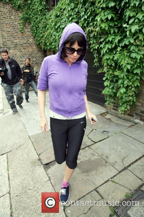 Sadie Frost seen leaving Amy Winehouse's home London,...
