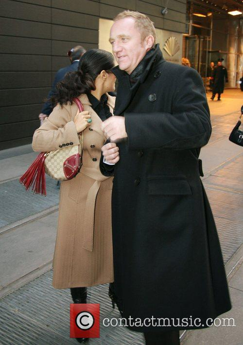 Salma Hayek and her fiance Francois-Henri Pinault out...