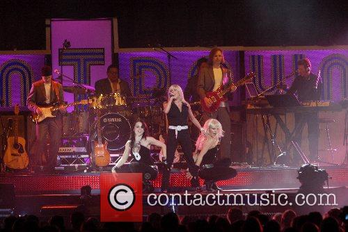 Samantha Fox performs at the Countdown Spectacular in...