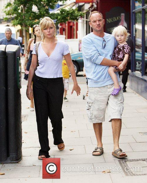 Samantha Janus in Primrose Hill with her husband...