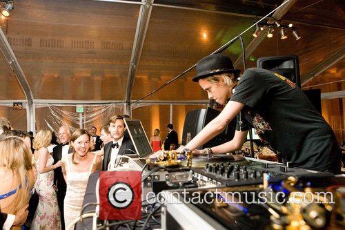 Samantha Ronson Djing at the Mid-Winter Gala Party...