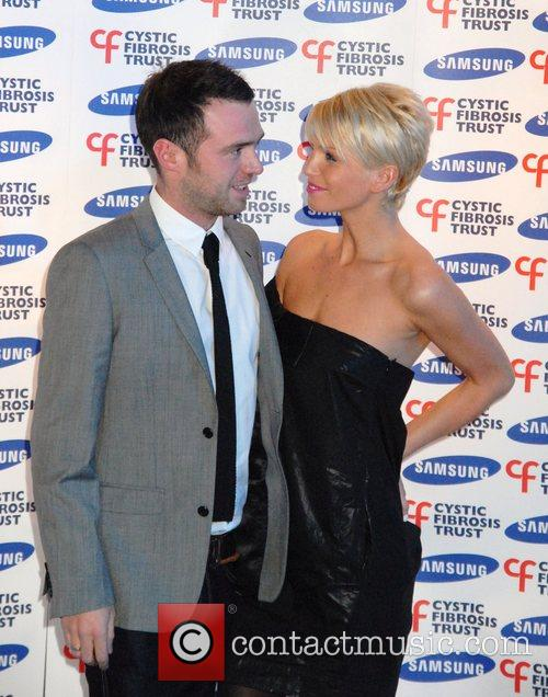 Sarah Harding and guest Samsung gala dinner in...