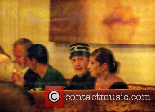 Adam Sandler and Kevin James having dinner at...