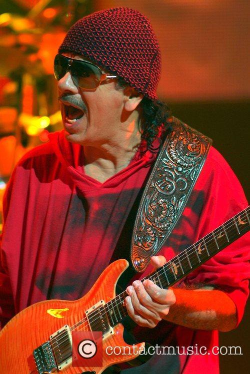 Carlos Santana performing live at the Hard Rock...