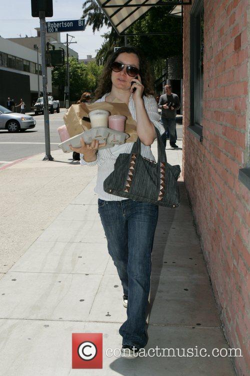 Emmy-nominated American actress Sarah Gilbert has her hands...