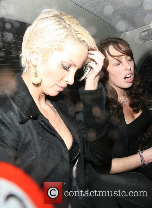 Sarah Harding leaving Mahiki at 5am