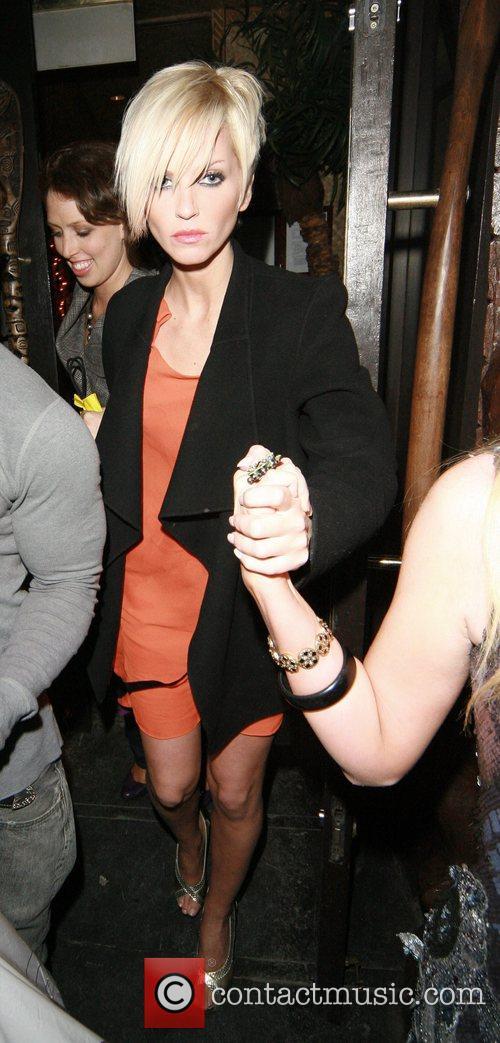 Sarah Harding leaving Punk nightclub with friends at...