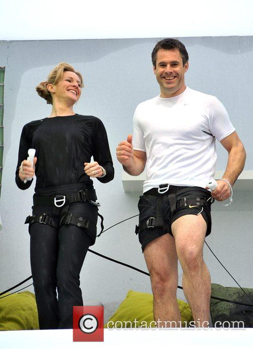 Gabby and Kenny Logan Launch of Nintendo's Wiifit...