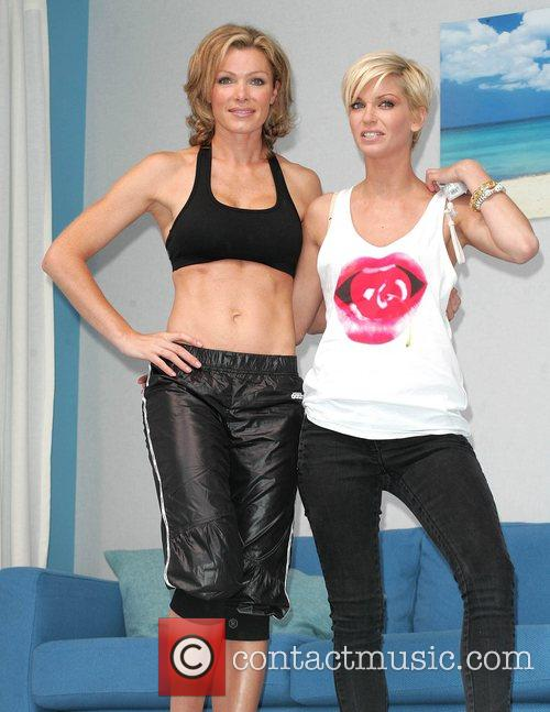 Nell McAndrew, Sara Harding Launch of Nintendo's Wiifit...