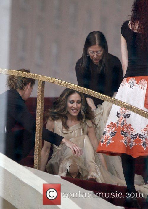 Annie Leibovitz photographs Sarah Jessica Parker for Vogue...