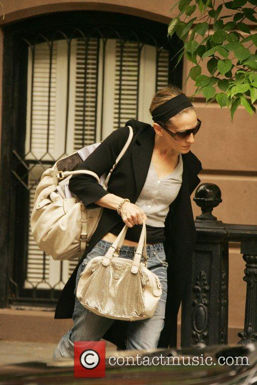Leaving her New York townhouse