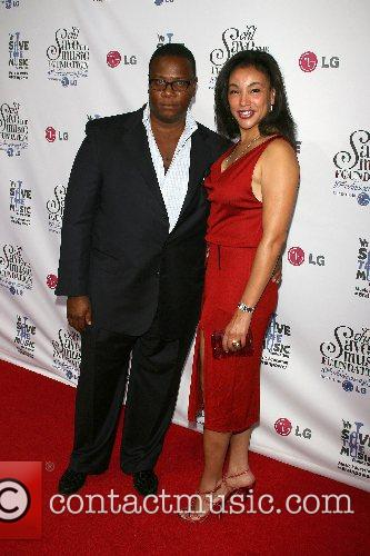 LA Reis and wife VH1's Save The Music...
