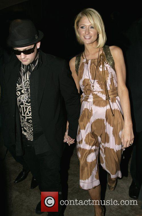 Benji Madden and Paris Hilton outside the Scandinavian...