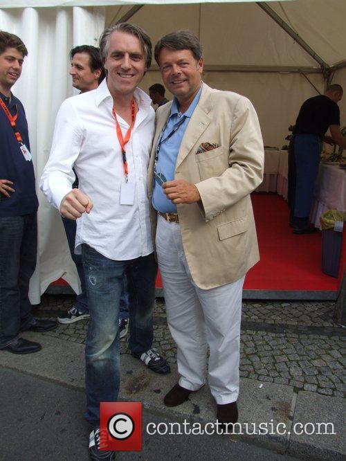 Tom Junkersdorf Peter L.H. Schwenkow Backstage at the...