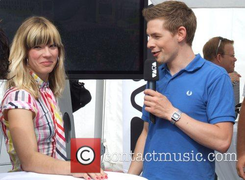 Mieze from Mia and VJ Klaas Backstage at...