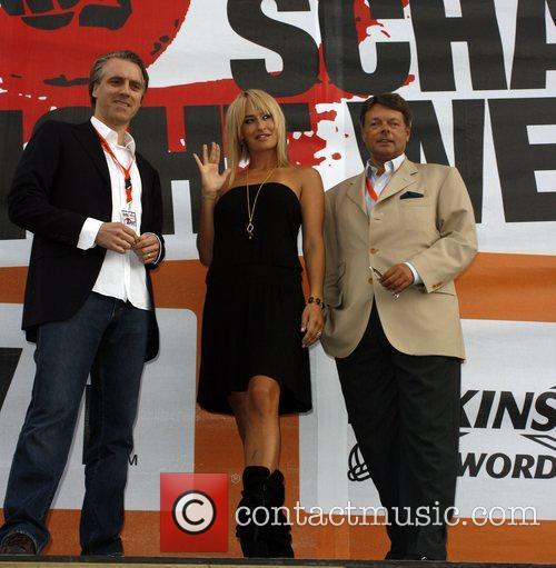 Tom Junkersdorf, Sarah Connor, Peter Schwenkow at the...