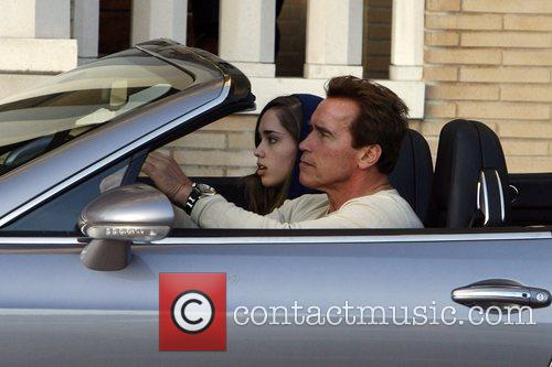 Arnold Schwarzenegger and His Daughter Shopping At Barney's New York 11
