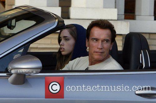 Arnold Schwarzenegger and His Daughter Shopping At Barney's New York 6