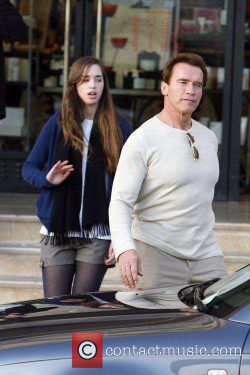 Arnold Schwarzenegger and His Daughter Shopping At Barney's New York 1