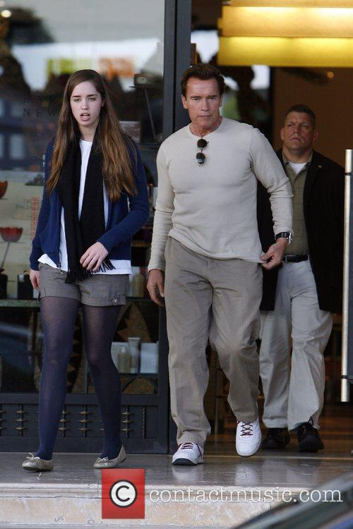 Arnold Schwarzenegger and His Daughter Shopping At Barney's New York 3