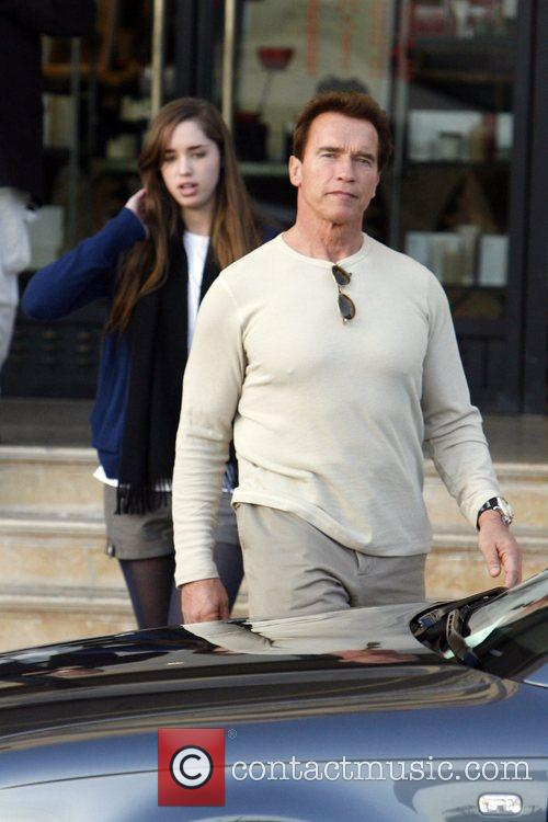 Arnold Schwarzenegger and His Daughter Shopping At Barney's New York 7