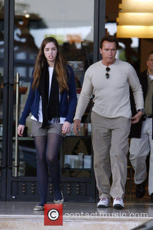 Arnold Schwarzenegger and His Daughter Shopping At Barney's New York 2