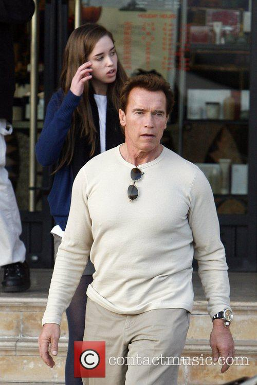Arnold Schwarzenegger and His Daughter Shopping At Barney's New York 4