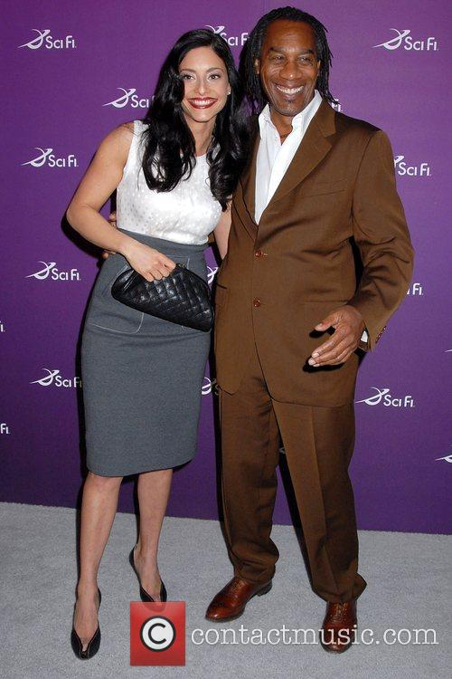 Erica Cerra and Joe Morton Sci Fi Channel...