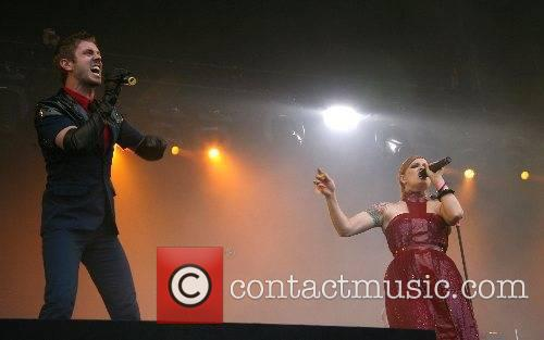Jake Shears and Ana Matronic Scissor Sisters performing...