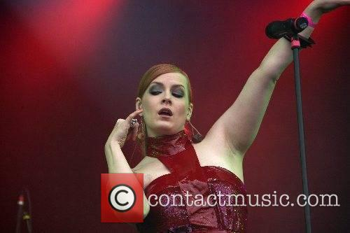 Ana Matronic Scissor Sisters performing live at the...