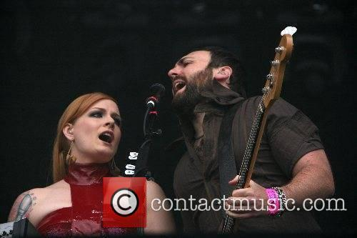 Ana Matronic and Babydaddy Scissor Sisters performing live...
